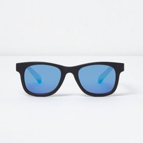 River Island Mini boys black mirror lens retro sunglasses