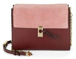 Louise et Cie Vino Suede and Leather Crossbody Bag