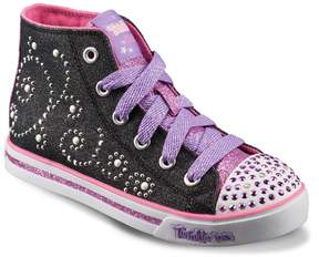 Skechers Twinkle Toes Shuffles Sparkle Glitz Girls' Light-Up Sneakers