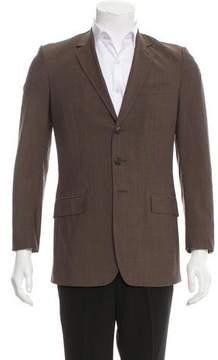 Burberry Mohair-Blend Three-Button Blazer