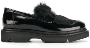Baldinini fur detail loafers