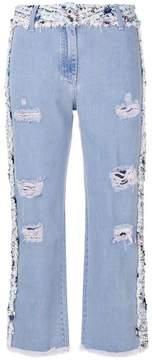 Blumarine panelled tweed jeans