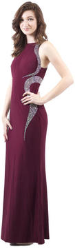 Cachet Beaded Halter Neckline Evening Gown 57817L