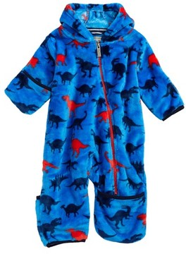 Hatley Infant Boy's Dino Print Fuzzy Fleece Bundlers Snowsuit