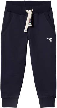 Diadora Navy Branded Track Pants