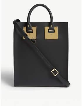 Sophie Hulme Black Mini Albion Leather Tote Bag