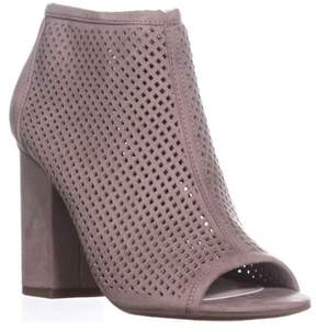 Bar III B35 Megan Peep To Booties, Taupe.
