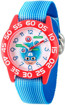 Marvel Emoji Boys Blue Strap Watch-Wma000076