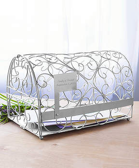 Cathy's Concepts 17'' Silver Mailbox Personalized Card Holder