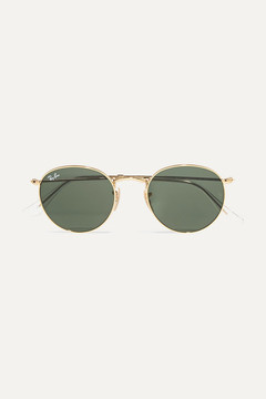 Ray-Ban Round frame Gold Sunglasses