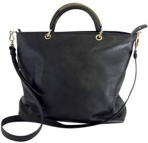 Max Mara Black Leather Convertible Tote
