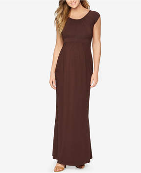 Isabella Oliver Maternity Cap-Sleeve Maxi Dress