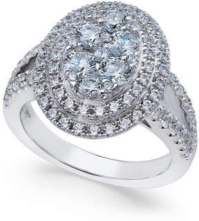 Arabella Swarovski Zirconia Oval Cluster Ring in Sterling Silver, Created for Macy's