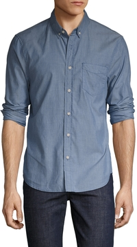 Joe's Jeans Men's Cotton Slim Fit Chambray Sportshirt