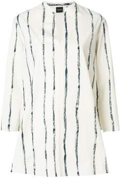 Aspesi striped split neck blouse