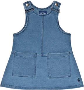 Joules Blue Jersey Denim Pinafore Dress