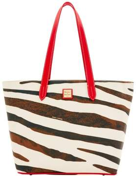 Dooney & Bourke Serengeti Large Zip Shopper Tote - ZEBRA RED - STYLE