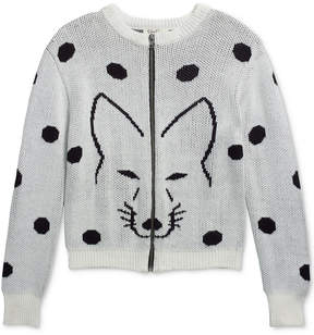Jessica Simpson Anise Fox Zip-Front Sweater, Big Girls (7-16)