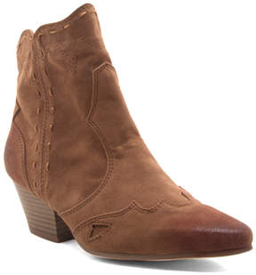 Qupid Camel Rhythm Ankle Boot - Women