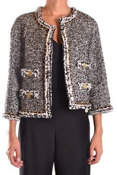 Edward Achour Paris Women's Grey Acrylic Blazer.