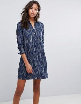 Esprit Button Up Feather Dress