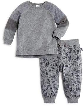 Splendid Boys' Mixed-Fabric Sweatshirt & Bear-Print Joggers Set - Baby