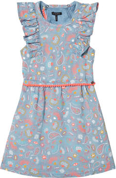 Ikks Blue Paisley Print Dress