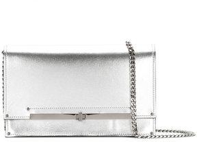 Casadei metallic twist-lock clutch bag