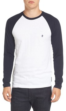 French Connection Men's Slim Fit Long Sleeve Raglan T-Shirt