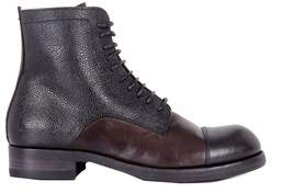Pantanetti Women's Brown Leather Ankle Boots.