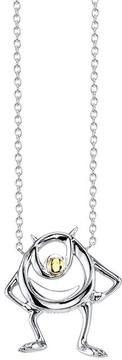 Disney Two-Tone 10K Gold and Sterling Silver Monster Mike Necklace