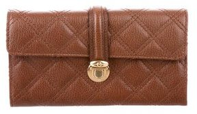 Marc Jacobs Quilted Leather Wallet - BROWN - STYLE