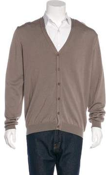 Calvin Klein Collection Wool V-Neck Cardigan