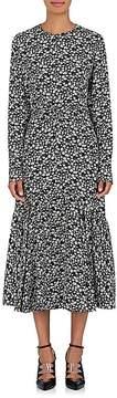 Calvin Klein Women's Daisy-Print Silk Maxi Dress
