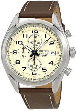 Seiko Chronograph Cream Dial Men's Watch