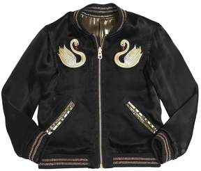 Little Marc Jacobs Reversible Coated Satin Bomber Jacket