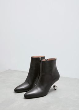 Marni Black Ball Heel Ankle Boot