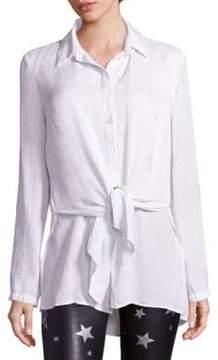 RtA Tie-Front Silk Shirt