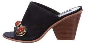 Derek Lam Embellished Suede Slide Sandals
