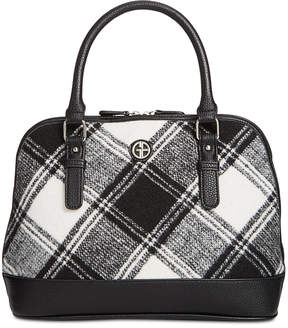 Giani Bernini Woven Plaid Satchel, Created for Macy's
