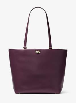 Michael Kors Mott Leather Tote - PURPLE - STYLE