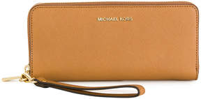 Michael Kors all around zip wallet - BROWN - STYLE