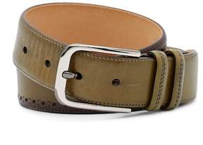 Mezlan Diver Brogued Leather Belt