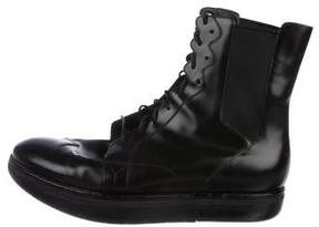 Y-3 Leather Sneaker Boots