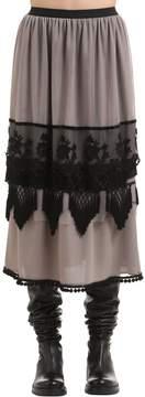 Antonio Marras Tulle & Lace Midi Skirt
