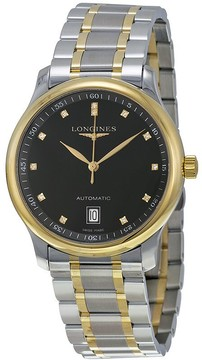 Longines The Master Diamond Black Dial Men's Watch