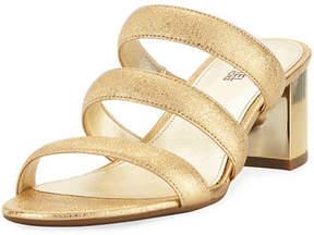 MICHAEL Michael Kors Paloma Flex Cracked Metallic Leather Sandal