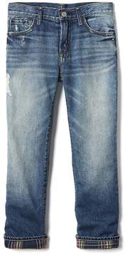 Gap 1969 Flannel-Lined Straight Jeans