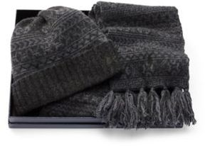 Ralph Lauren Fair Isle Hat & Scarf Gift Set Zurich Heather One Size