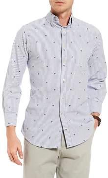 Daniel Cremieux Slim-Fit Stripe Shark Print Oxford Long-Sleeve Woven Shirt